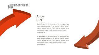 红橙色箭头雷达图PPT图表-2