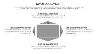 灰色SWOT分析图表-10