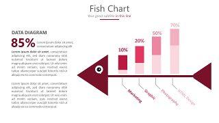 红色鱼骨图和甘特图PPT图表-14