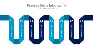 蓝色扁平化流程图PPT图表-1