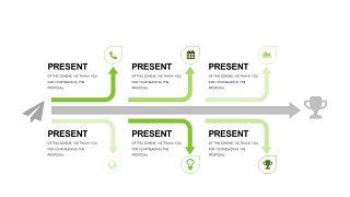 小清新绿色商务PPT图表-25