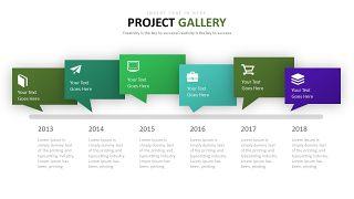 绿色并列关系图表-2