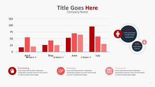 红色柱状图PPT图表-26