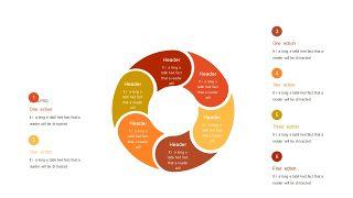 红橙色箭头雷达图PPT图表-26