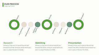 绿色简约线条PPT图表-12