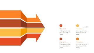 红橙色箭头雷达图PPT图表-9