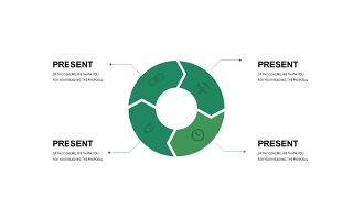 清新绿色数据关系PPT图表-14