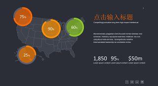 商务数据分析PPT图表之地图-7
