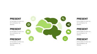 小清新绿色商务PPT图表-13