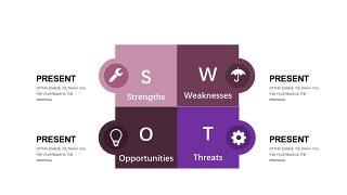 深紫色系商务PPT图表-17