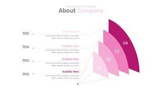 玫红色系商务PPT图表-12