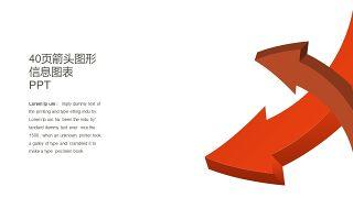 红橙色箭头雷达图PPT图表-3