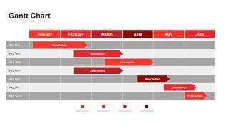 红色鱼骨图和甘特图PPT图表-21