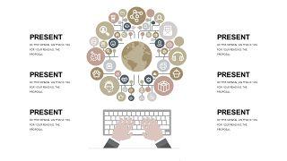 浅卡其色商务PPT图表-5