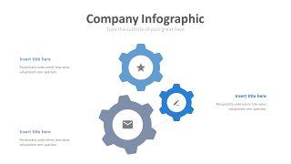 蓝色齿轮商务PPT图表-3