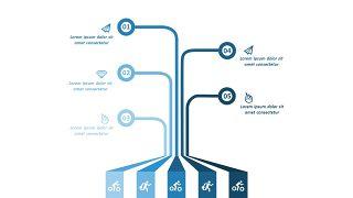 浅蓝色五项并列关系PPT图表-13