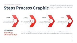 红色鱼骨图和甘特图PPT图表-5