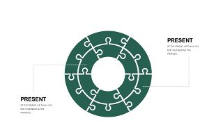 墨绿色创意设计PPT图表-19