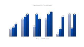 蓝色数据可视化PPT图表-15