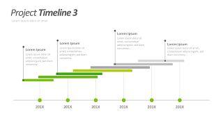 绿色甘特图PPT图表-11