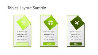 绿色三项关系PPT图表-10