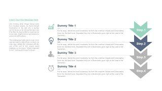 清新四项并列关系PPT图表-31