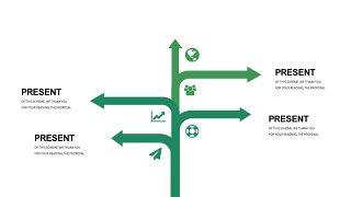清新绿色数据关系PPT图表-13