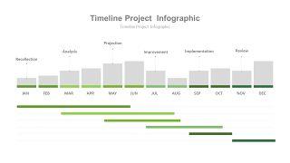 绿色甘特图PPT图表-17