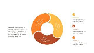 红橙色箭头雷达图PPT图表-23