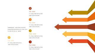 红橙色箭头雷达图PPT图表-14
