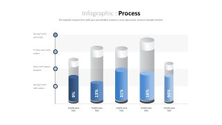 蓝色对比关系PPT图表-20