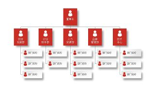 深红组织结构PPT图表-19