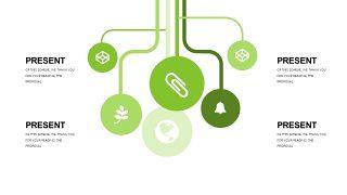 小清新绿色商务PPT图表-15