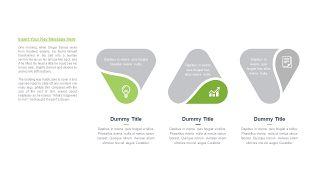 绿色三项关系PPT图表-15
