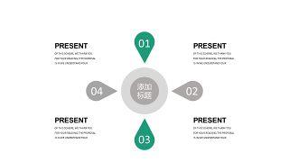 绿灰总分数据关系PPT图表-10