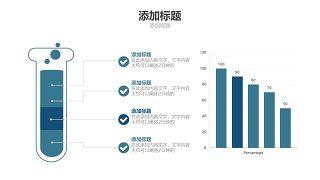 蓝色医学医疗医用PPT图表8
