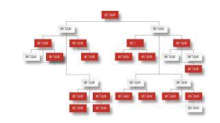 深红组织结构PPT图表-5