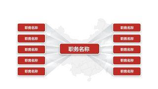 深红组织结构PPT图表-28