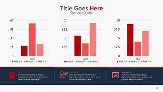 红色柱状图PPT图表-27