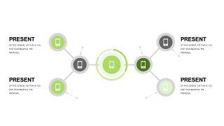 小清新绿色商务PPT图表-26