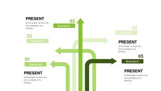 小清新绿色商务PPT图表-17