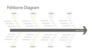 黄灰色鱼骨流程图PPT图表-7
