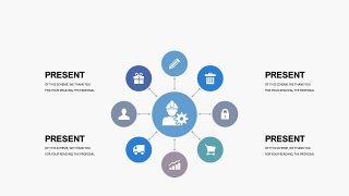 蓝色创意总分关系PPT图表-22