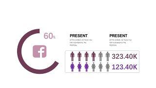 深紫色系商务PPT图表-24
