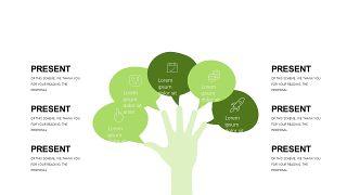 小清新绿色商务PPT图表-21