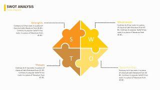 黄色数据关系PPT图表-10