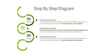 绿色三项关系PPT图表-30