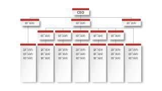 深红组织结构PPT图表-8