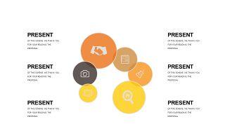 橙色系并列关系PPT图表-23