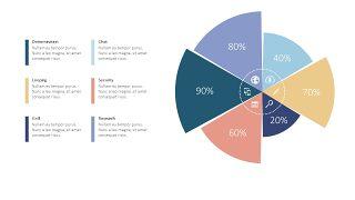 圆形饼状图PPT图表4